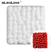 SILIKOLOVE New 3D Cherry Silicone Cake Mold Tray For Baking Chocolate Mousse Mousse Decorating Tools Cakes