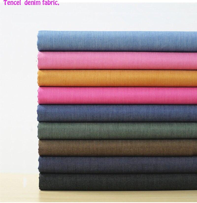 143 * 50cm 1pc Toppkvalitet 100% Tencel Fabric Denim Soft Denim - Konst, hantverk och sömnad
