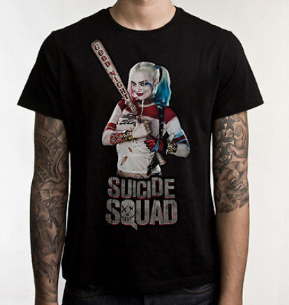 Suicide Squad T-Shirt Suicide Squad Heroes  T Shirt Harley Quinn Joker Tops Tees