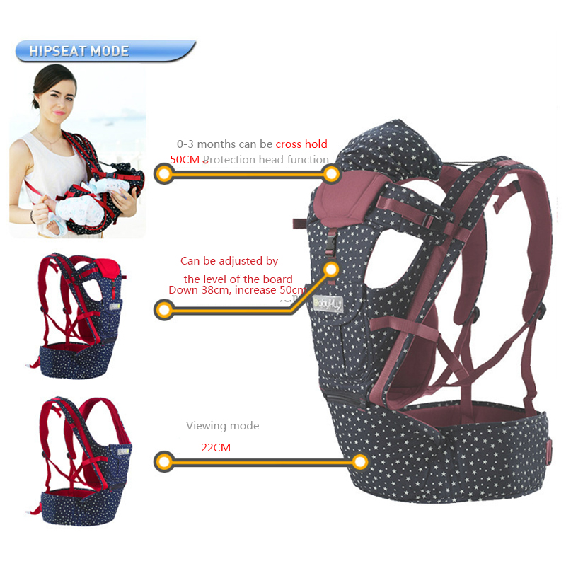 Fashion Adjustable Baby Carrier Multi-function ergonomic baby carrier 360 Infant Toddler Backpack Pouch Wrap Sling with hipseat черепашка нажимай и догоняй