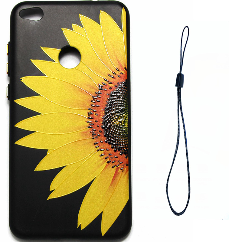 3D Relief flower silicone case huawei p8 lite 2017 honor 8 lite (10)