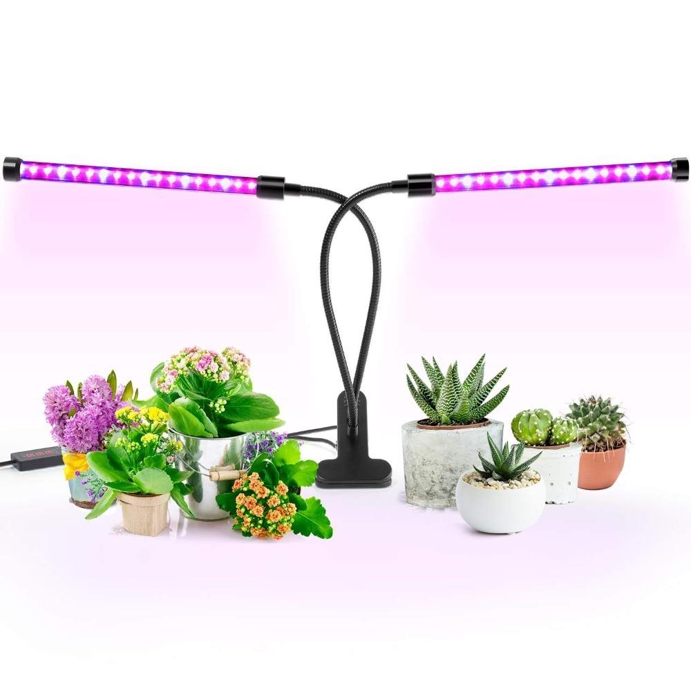 Grow Light,18/27W Dual Head Timing 36 LED Levels Plant