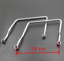 Freeshipping Custom 19 cm Saddle bag Support Bar Mount BracketFor Honda Shadow Aero VT 750 600 VLX Yamaha Vstar 650 400 V-star