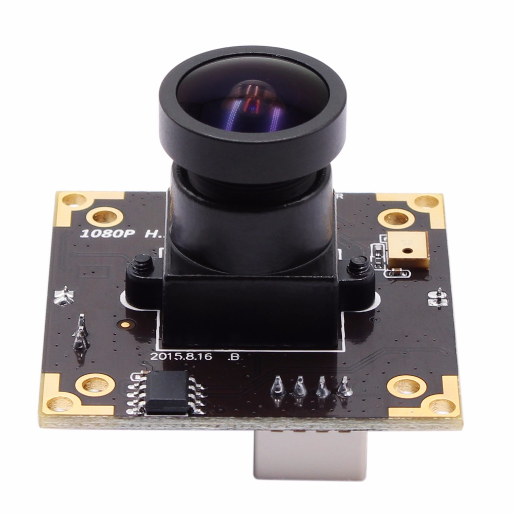 цена на ELP 2MP/3MP WDR H.264 30fps wide angle 170 degree fisheye Lens Free driver UVC Mini Webcam PCB Board Camera Module for Linux
