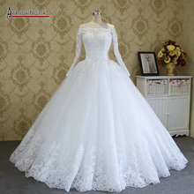 Amanda Novias wysokiej jakości suknia ślubna szyta na zamówienie sukienki 2018