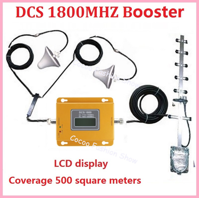 LCD display! Mini 4g LTE DCS 1800 mhz booster, DCS cellular signal verstärker booster handy signal repeater kits + antenne