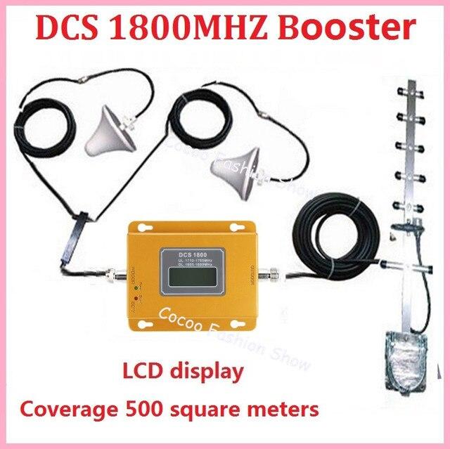 Zqtmax 75dB 4G Repeater GSM 1800 MHz Di Động Tăng Cường Tín Hiệu LTE FDD Tế Bào Tín Hiệu Với Yagi Ăng Ten Và dây Cáp