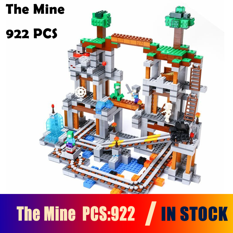 Model Building block Compatible With lego 21118 enter the darkness of The Mine My world whit track Pixel Bricks Kids Toy babylon rising the edge of darkness