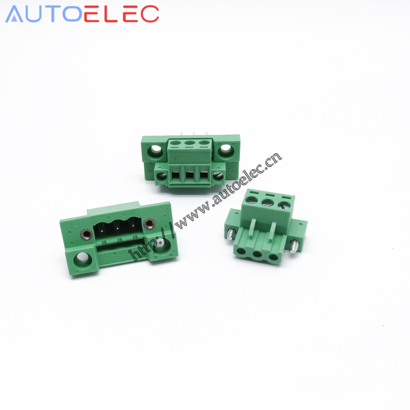 3poles Plug in Terminal Blocks PCB Connector Panel 5 08mm pitch male female straight pin With