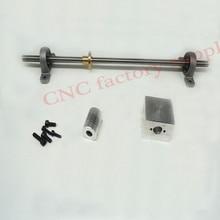 3D Drucker T8-800 Edelstahlgewindespindel Set + KP08 + Wellenkupplung + mutter gehäuse Durchmesser 8 MM Pitch 2mm Blei 2mm Länge 800mm