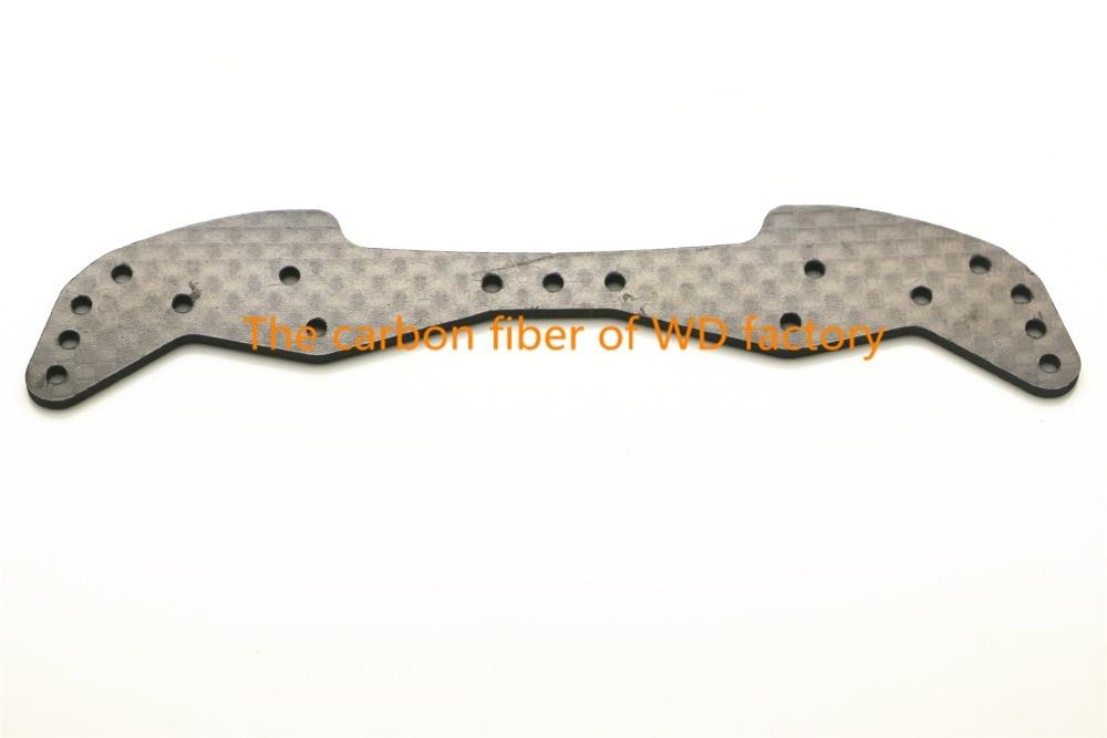 RFDTYGR RC MINI 4WD 1.5mm Ancho de Fibra de Carbono Placa Frontal Piezas Personalizadas Para Componentes de Fibra de Carbono Tamiya MINI 4WD C040 2 Unids / lote