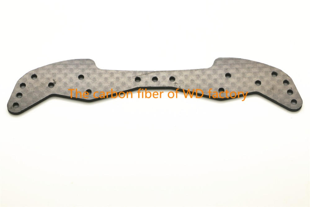 RFDTYGR RC MINI 4WD 1.5mm Carbon Fiber Wide Front Plate Anpassade delar till Tamiya MINI 4WD Carbon Fiber Components C040 2st / lot