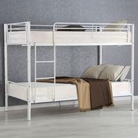 Giantex металла две через две двухъярусная кровать современные металлические Сталь Кровати Рамки с лестницы для взрослых и детей Спальня обще