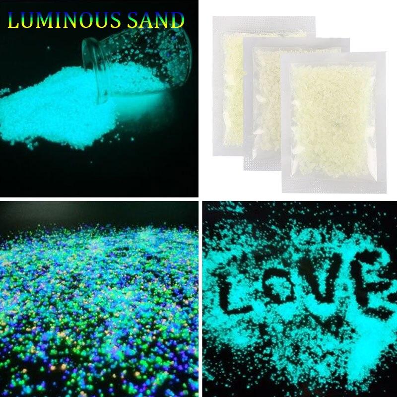 Красивые легкие серьги 10 г энергосберегающий светящийся песок для сбора Prop Прямая