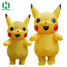 цена на Inflatable Pikachu Costumes Purim Carnival Costume Mascot Costume Halloween Cosplay Costumes for Kids Adults