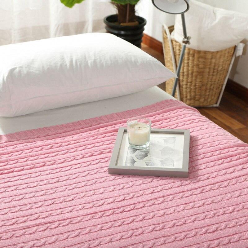 stricken baumwolle decke werbeaktion shop f r werbeaktion. Black Bedroom Furniture Sets. Home Design Ideas