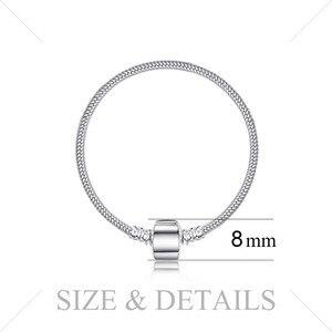 Image 2 - Женский браслет цепочка Jewelrypalace, браслет из стерлингового серебра 925 пробы с бусинами, серебро 925 пробы