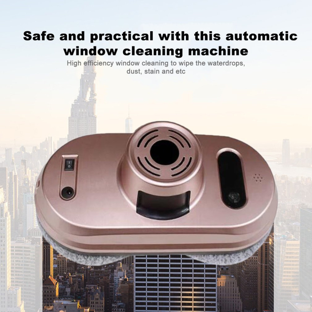 Window Cleaner Wiper Scraper Electric Cleaning Machine Window Cleaner Robot Strong Adsorption Automatic Super Absorbent швабра loks super cleaning с насадкой для отжима цвет розовый l10 2757 11