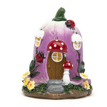 ФОТО Big Mushroom House Fairy Garden Gnome Moss Terrarium Decor for Resin Crafts Bonsai Bottle Garden