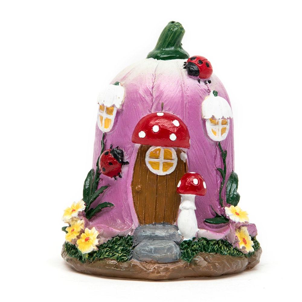 Big Mushroom House Fairy Garden Gnome Moss Terrarium Decor For Resin Crafts Bonsai Bottle Garden Dollhouse Miniatures Figurine