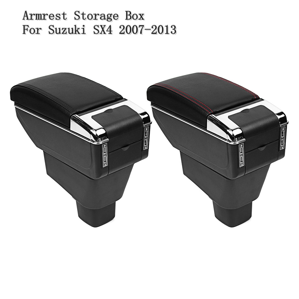 Car Center Console Armrest Storage Box Arm Console Stowing Tidying Boxes For Suzuki SX4 2007-2013