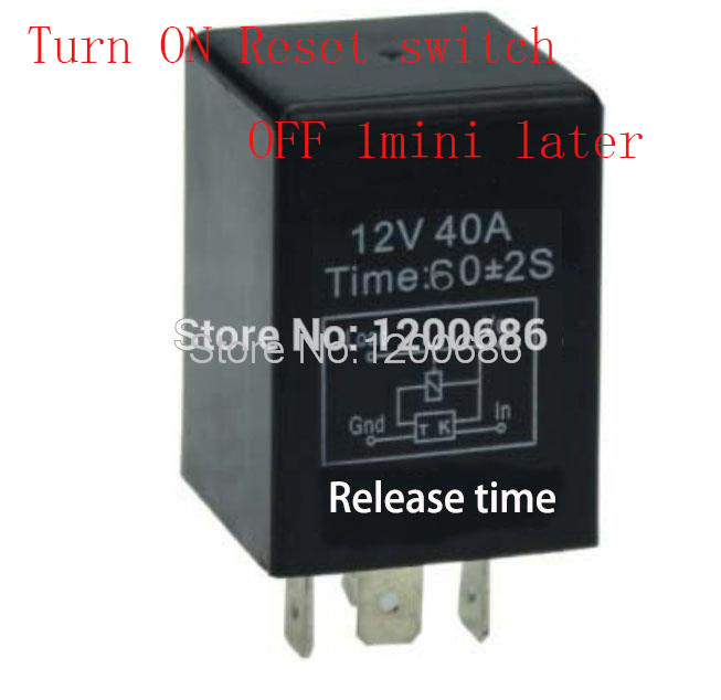 30A 1 minutes delay off after signal reset switch on  Automotive 12V Time Delay Relay SPDT 60 second delay release off relay30A 1 minutes delay off after signal reset switch on  Automotive 12V Time Delay Relay SPDT 60 second delay release off relay