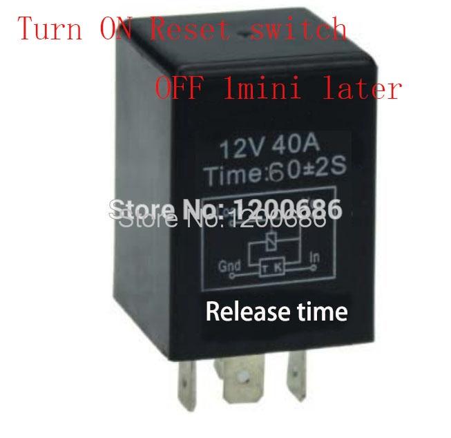 30 А 1 минута отключение после сброса сигнала переключатель на автомобильное 12 В реле задержки времени SPDT 60 секунд реле отключения задержки
