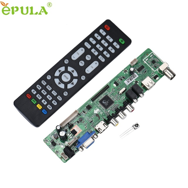 Beautiful Gift New V59 Universal LCD TV Controller Driver Board PC/VGA/HDMI/USB Interface Free Shipping Apr21