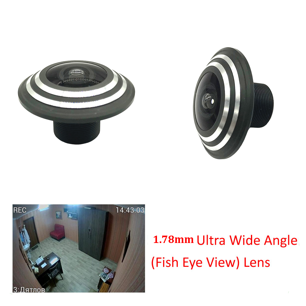 HD 1.78mm 5 Megapixel Panorama FishEye Ultra CCTV Lens For CCTV HD AHD/TVI/CVI/CVBS 1080P Wireless Network CCTV Camera