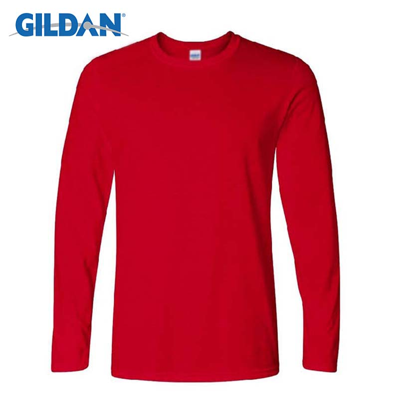 Gildan Men's Long Sleeve T-shirts Spring Autumn Casual O Neck T Shirt 2017 New Fashion Fitness Tops&Tees Homme Camisetas