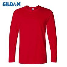 Футболка gildan мужская с длинным рукавом повседневная тенниска