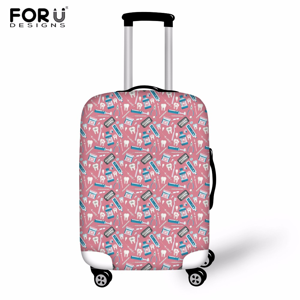 FORUDESIGNS Dentist Pattern Travel Luggage Cover Fashion Trolley Suitcase Protect Dust Bag Case Travel Accessories Supplies