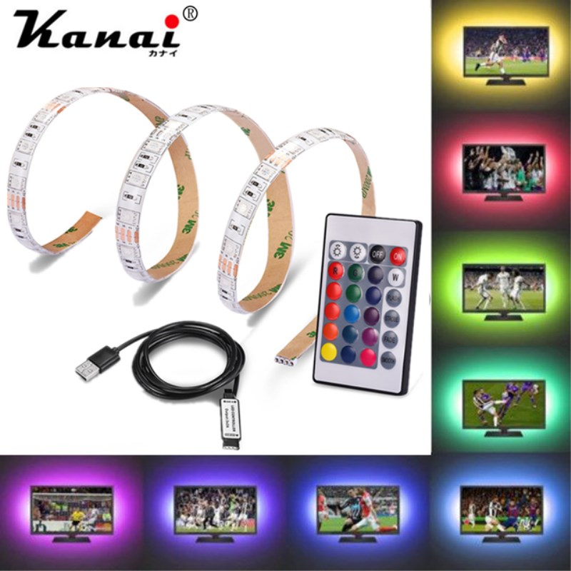 USB Power Supply LED 5050 0.5M/1M/2M/5M  No-waterproof Rgb Flexible Strip Lamp DC 5V TV Background Lighting DIY Decorative Lamp