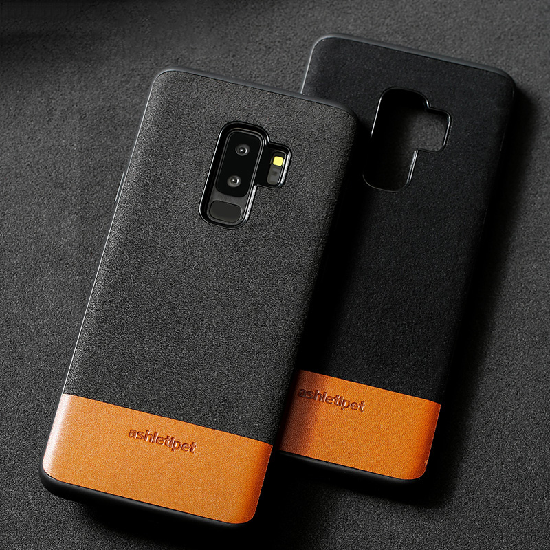 Véritable Cas de Téléphone en cuir Pour Samsung Galaxy S8 S9 Plus Note 8 9 S7 bord Couverture Arrière Pour a3 a5 a7 j3 j5 j7 2017 a8 2018 Cas