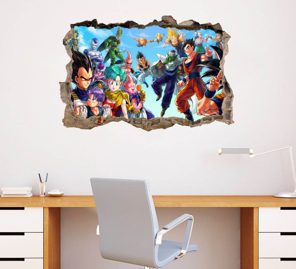 Dragon ball z crew wall decor sticker dragonball wall decal dragon ball z crew wall decor sticker dragonball wall decal 75x50cm dragonball fans gift home decor baby kids bedroom decor in wall stickers from home amipublicfo Images