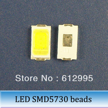 white LED Patch SMD5730 6000-6500 k brightness 45-50 lumens lamp beads led diode