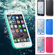 360 Degrees full Sealed Waterproof Case Cover for iphone 8 6s plus 7 plus 5s SE capinhas fundas Soft TPU Candy Color Phone Cases