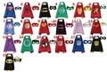 Fuentes del partido de Doble Cara niños Capa de Superhéroe Superman Batman Spiderman Robin Teenage mutant ninja turtles niños capes con máscara