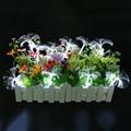 Fibra de 2.5 M 10 leds led da bateria luz da corda 2 pcs AA Pilhas Feericamente do Partido Do Casamento Do Natal Piscando LED luzes de tira