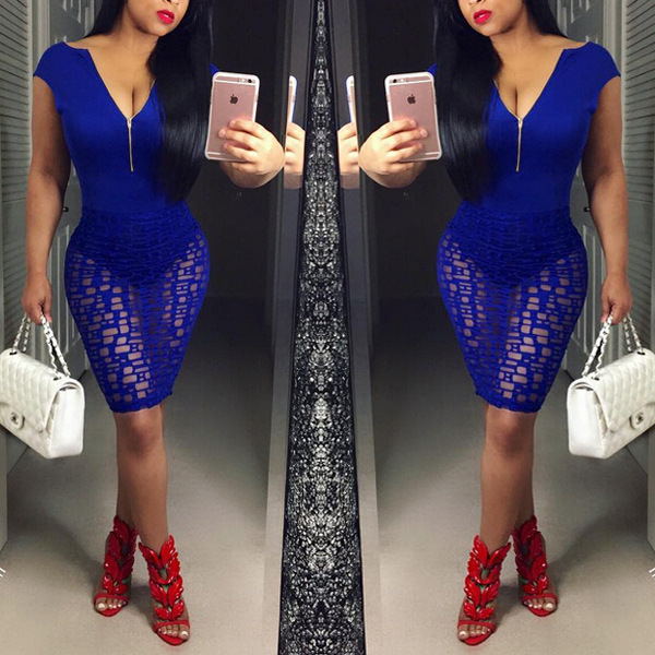 Royal Blue Club Dress