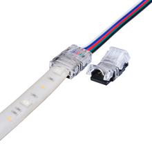 10pcs 5 Pin LED Strip to Wire Connector for 12mm RGBW RGBY Waterproof IP65 5050 LED Tape Light Connection Conductor