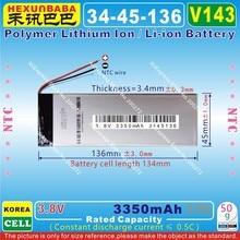 [V143] 3,8 в, 3,7 в 3350 мАч [3445136] NTC; полимерный литий-ионный/литий-ионный аккумулятор для планшетных ПК, электронных книг, динамиков; внешний аккумулятор, gps