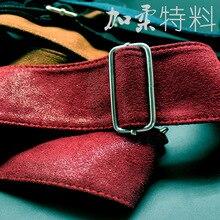 Красный подлинный кожаный ремешок для гитары электрогитара ремень Мягкий ремень из нержавеющей стали Пряжка Кожаные Концы черный синий коричневый Avaliable
