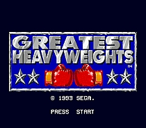 Greatest Heavyweights 16 bit MD Game Card For 16 bit Sega MegaDrive Genesis game console
