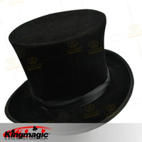 Folding Top Hat Black Magician's Hat Magic Props Tricks Magic Toys
