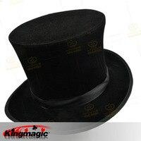 Folding Top Hat Black Magician's Hat Magic Props Tricks Magic Toys
