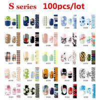 100 stks Glad Nail Beauty Sticker Patch Polish Folies Wraps Decals Decoratie DIY Nail Styling Gereedschap Groothandel