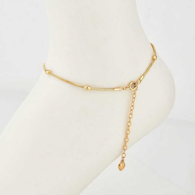 """Новый модный ножной браслет мода подарок ножной браслет любовь сердце """"пятиконечная звезда"""" простой Для женщин браслет оптовая продажа браслет Cheville"""