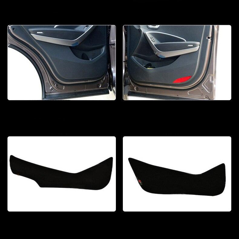 Ipoboo 4pcs Fabric Door Protection Mats Anti-kick Decorative Pads For Hyundai IX45 2013-2015 ipoboo 4pcs fabric door protection mats anti kick decorative pads for hyundai elantra 2012 2015