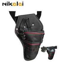 electric wrench impact drill bag Holster electric screwdriver hammer bag waterproof pockets strap Waist Belt power Tool box(China)